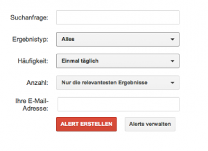 Google News Alerts einfach einrichten (Screenshot: Google)