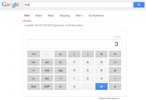 Google als Taschenrechner (Foto: Screenshot)