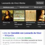Zeige mir Gemälde von Leonardo da Vince (inkl. Sortiermöglichkeit)