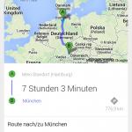 Routenberechnung per Spracheingabe