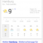 Regnet es morgen in Hamburg?