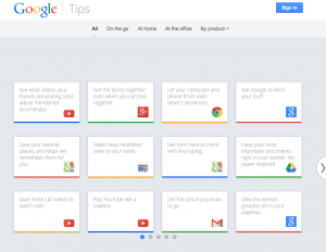 Neues Portal: Google Tipps