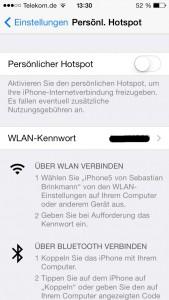 Das iPhone als Hotspot verwenden