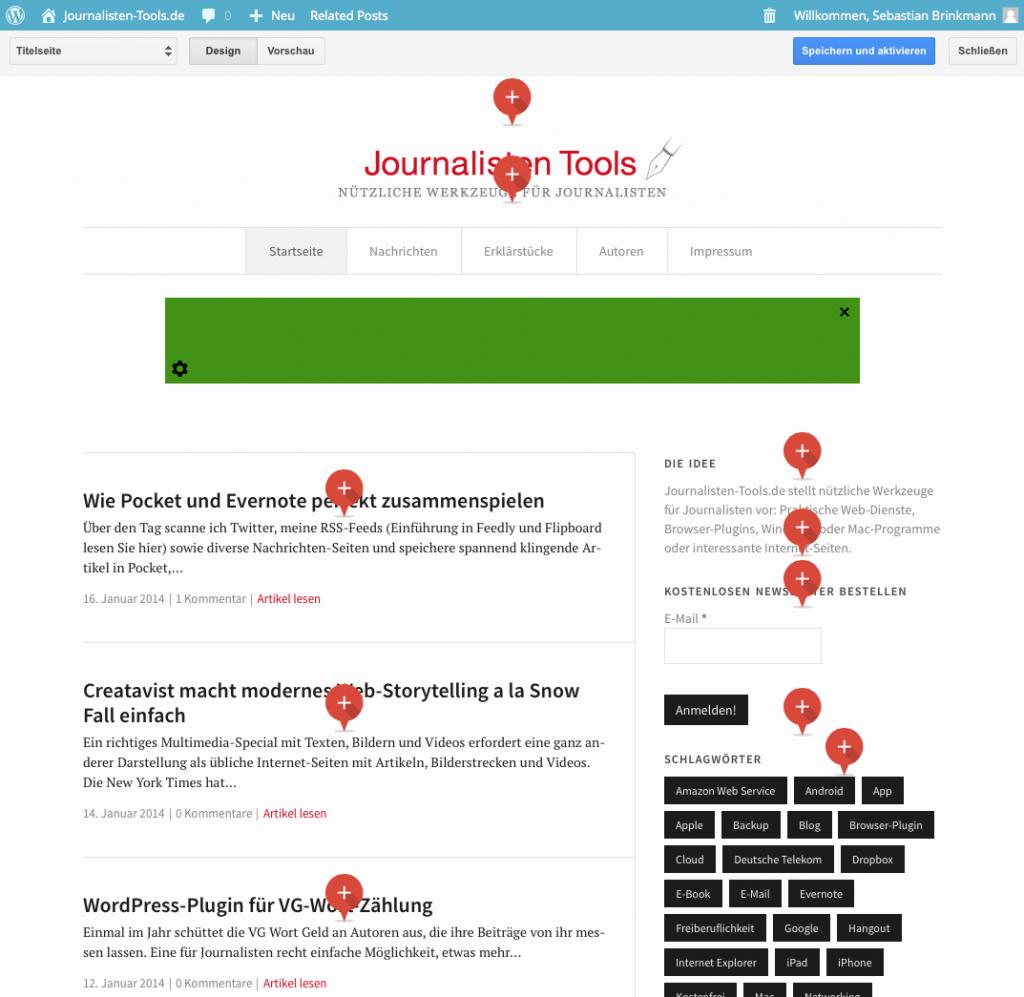 Konfiguration mit Google Publisher Plugin (Foto: Screenshot)