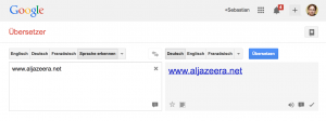 Startseite von Google Translate (Foto: Screenshot)