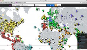 Startseite von Newspapermap.com (Foto: Screenshot)