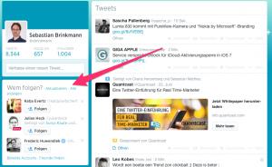 Twitter empfiehlt User, denen man folgen sollte (Foto: Screenshot Twitter.com)