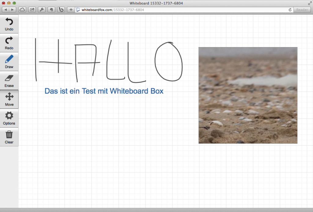 Whiteboard Box im Einsatz (Foto: Screenshot)