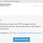 Jede Änderung der Seite wird per E-Mail gemeldet. (Foto: Screenshot)