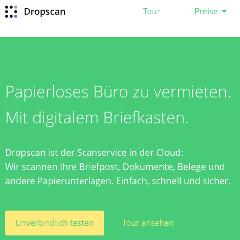 Screenshot Dropscan.de