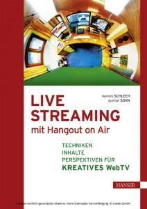 Live Streaming mit Hangout on Air (Buchcover: Hanser Verlag)