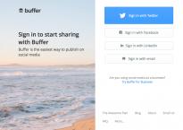 Homepage von Bufferapp.com