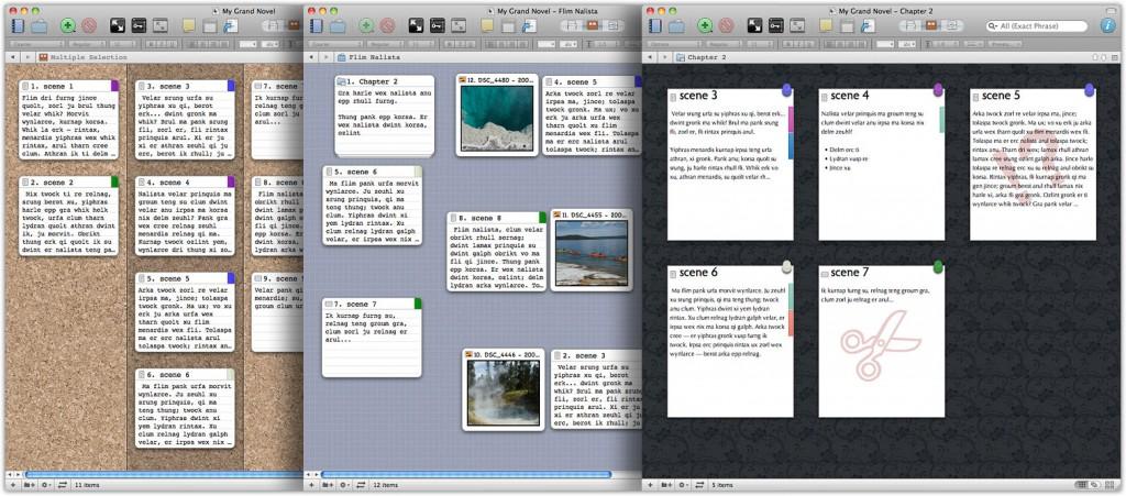 Scrivener ist ein mächtiges Tool, so sieht die Oberfläche leider auch aus. (Screenshot: Literature & Latte Ltd.)