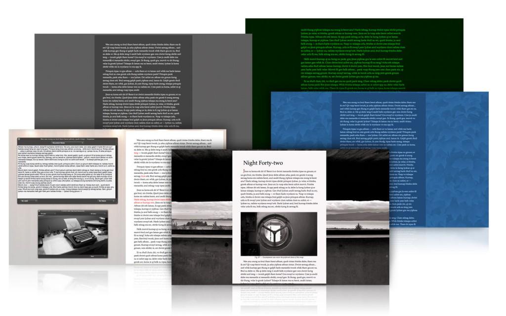 Scrivener bietet im Vollbild-Modus verschiedene Optionen an (Screenshot: Scrivener ist ein mächtiges Tool, so sieht die Oberfläche leider auch aus. (Screenshot: Literature & Latte Ltd.)