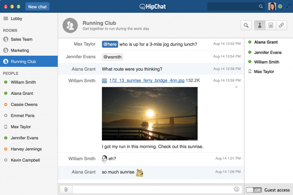Hipchat läuft im Browser (Foto: Atlassian)