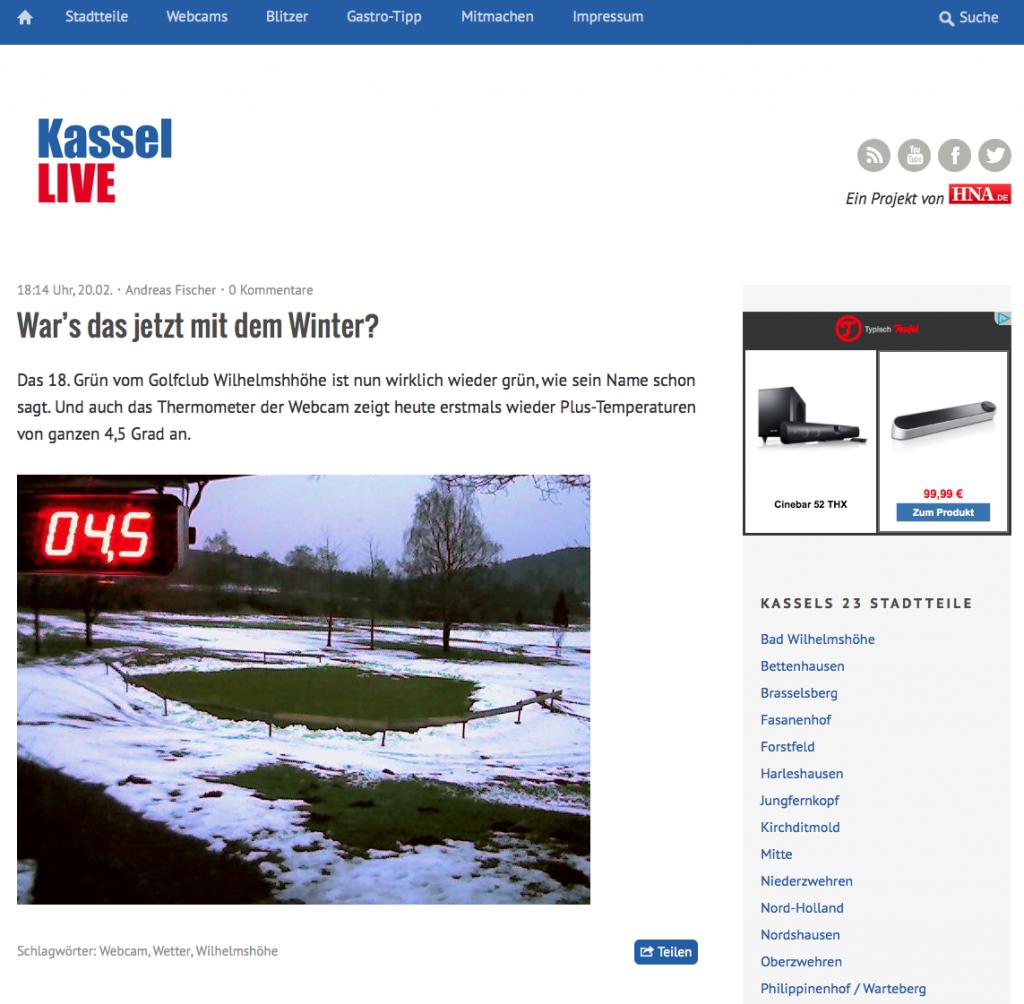 Startseite von Kassel-Live (Foto: Screenshot)