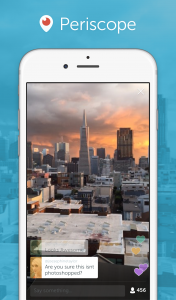 Die Periscope-App in Aktion (Foto: Periscope.com)