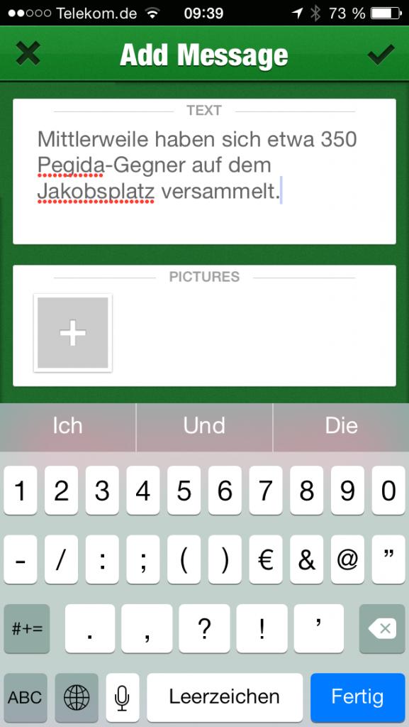 Die Ticker-App ist bewusst schlicht gehalten und sehr intuitiv zu bedienen.