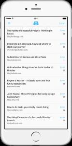 Short zeigt in Pocket gespeicherte Beiträge, die in wenigen Minuten gelesen sind (Foto: Short)