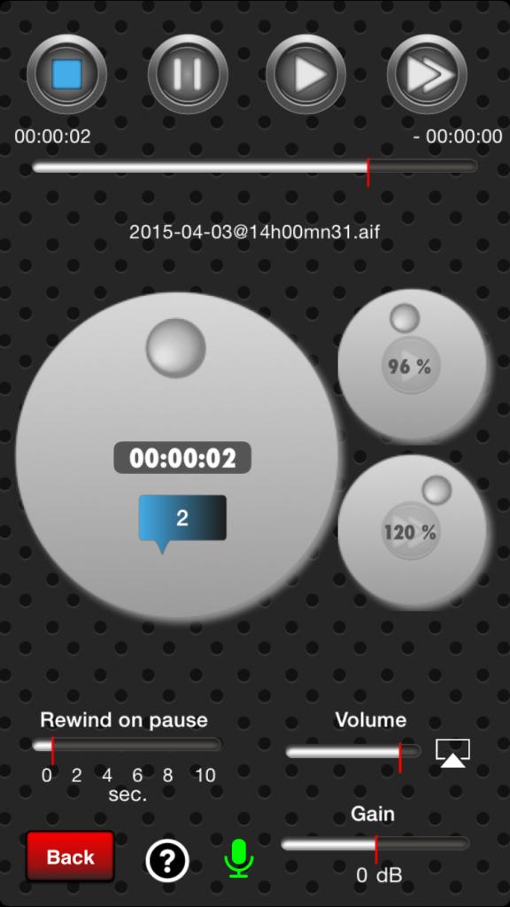 Qwaz-Audio im Abspiel-Modus (Foto: Screenshot)