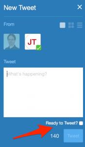 Tweetdeck fragt nach: Ready to tweet?