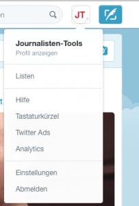 Im Account-Menü steht ein direkter Link auf Analytics (Foto: Screenshot)