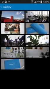 Storytile Connect lädt auf Wunsch nur ausgewählte Bilder hoch (Foto: Screenshot)