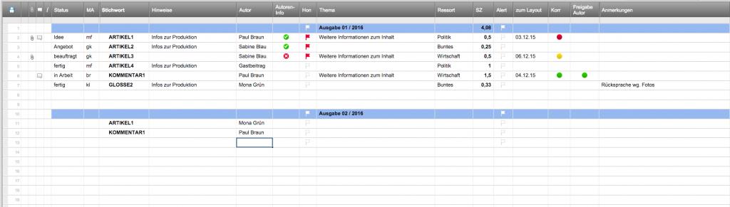 Die Themen-Übersicht von Harald Link (Foto: Screenshot)