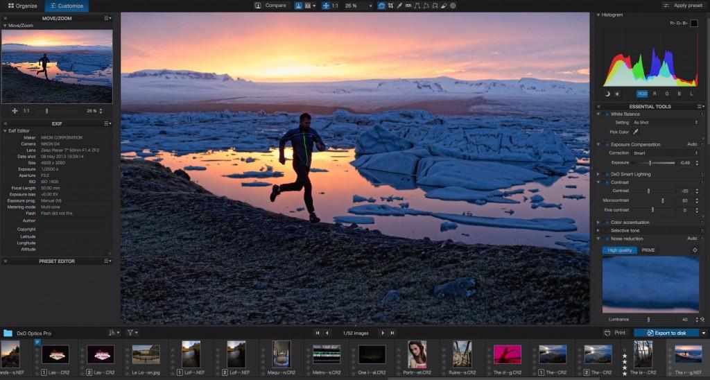 """DxO Optics Pro: Eigenständige App bietet viel mehr Einstellungsmöglichkeiten als die Erweiterung für """"Fotos"""" (Foto: Screenshot)"""
