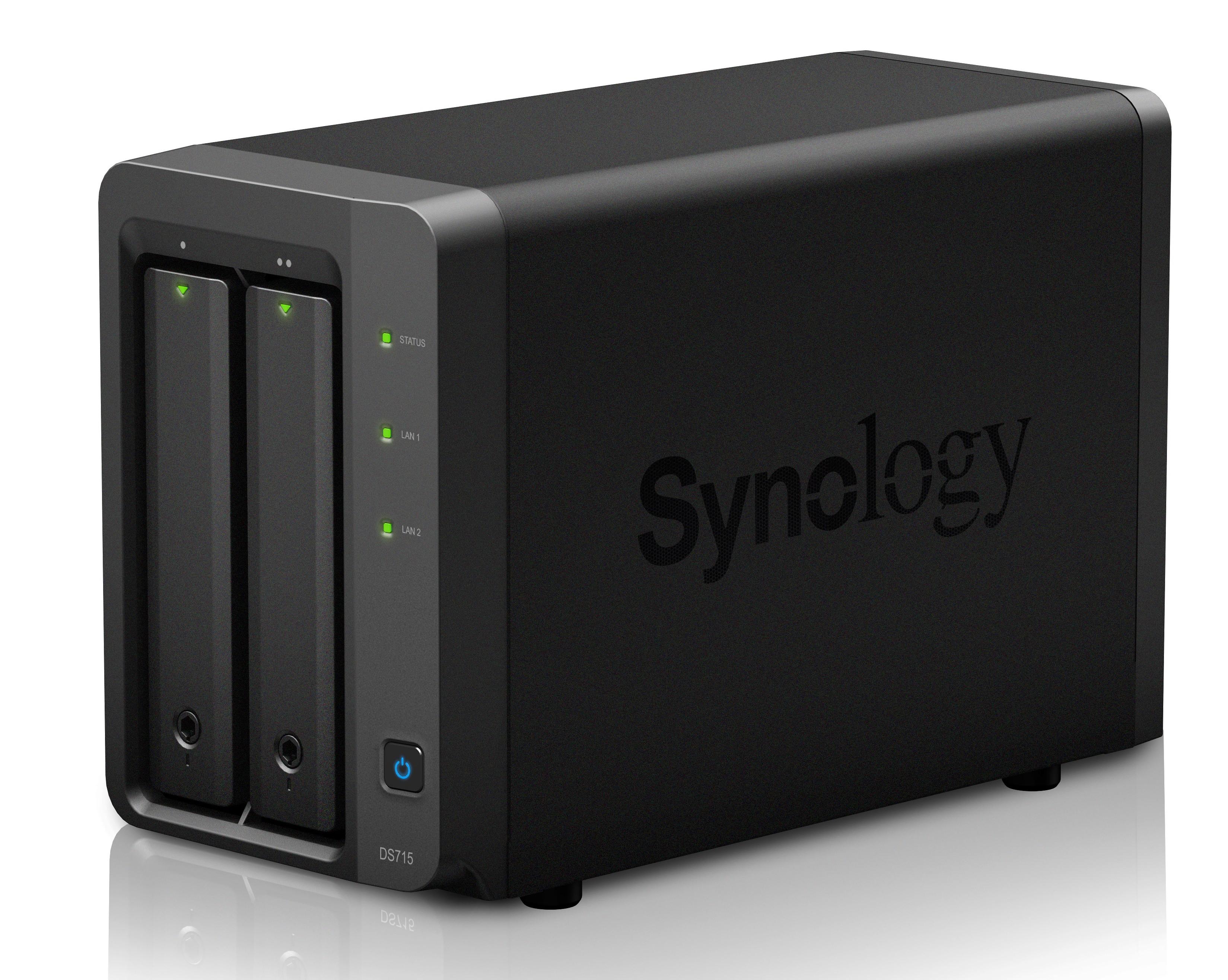 Synology DS715 mit Platz für zwei Festplatten (Foto: Synology)