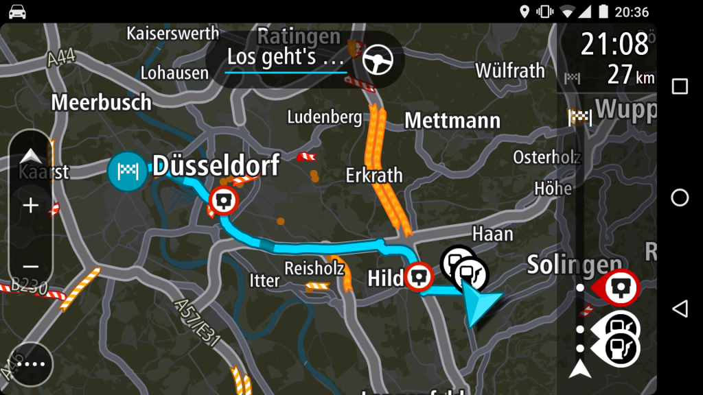 TomTom Go zeigt übersichtliche Stau-Nachrichten (Foto: Screenshot)