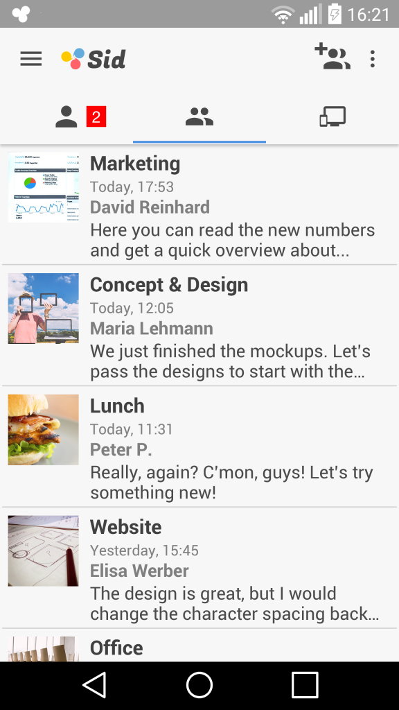 Sid gibt es für iOS und Android (Foto: Screenshot)