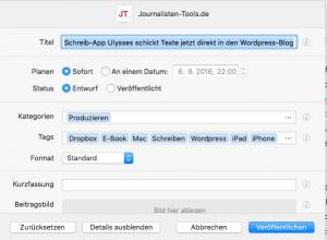 Der WordPress-Export lässt sich individuell konfigurieren (Foto: Screenshot)