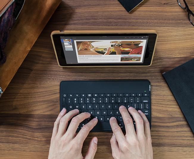 Die Logitech Keys to go macht das Schreiben am iPad Pro deutlich angenehmer (Foto: Logitech.com)