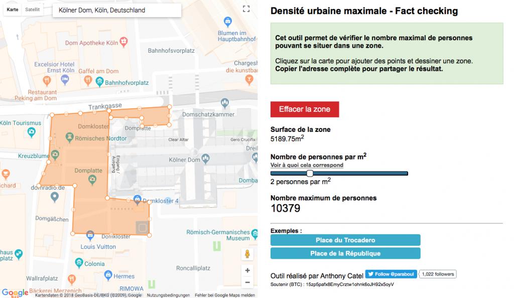 Wie viele Menschen passen auf die Domplatte in Köln? (Foto: Screenshot)