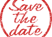 "Stempel mit Text ""Save the Date"""